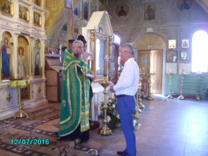 Молебен преподобному Сергию в Покровской Церкви Средняя Ахтуба